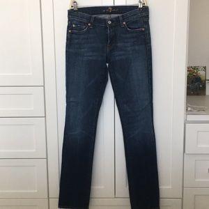 7 for all mankind medium dark jeans